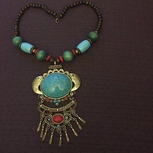 Boho wild ocean necklace